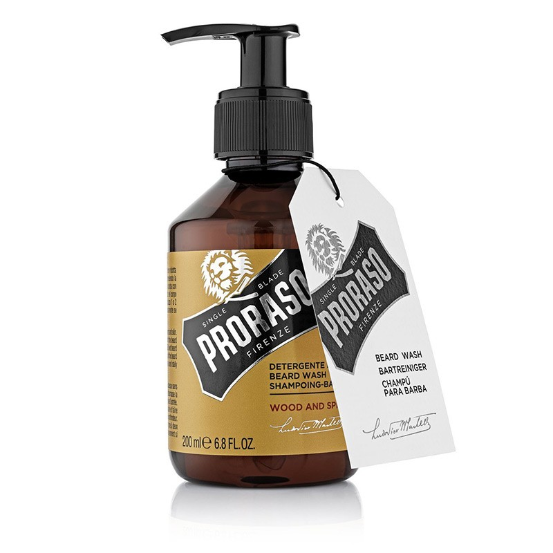SHAMPOING BARBE PRORASO WOOD AND SPICE